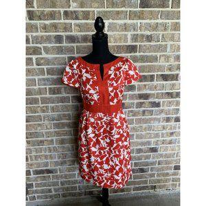 CH Carolina Herrera red and white textured dress 4